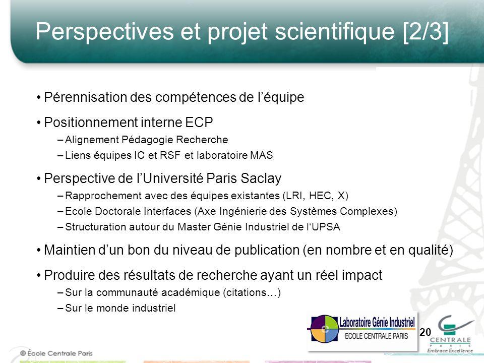 Perspectives et projet scientifique [2/3]